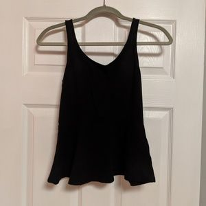 Express black peplum top small